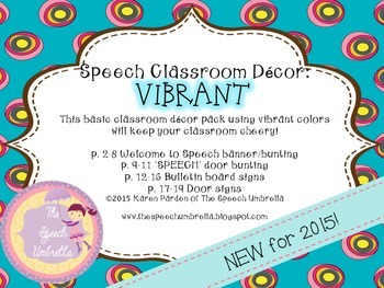 A Potion for Style: Speech Room Decor ~ Vibrant