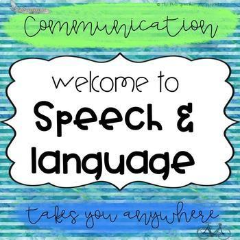 Speech Therapy Room Decor | SLP Organization