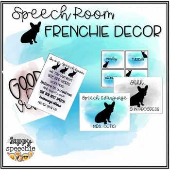 Speech Room French Bulldog Decor [customizable]