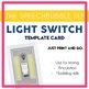 Speech Room Light Switch Template