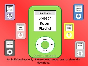 Speech Room Playlist