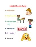 Speech Room Rules