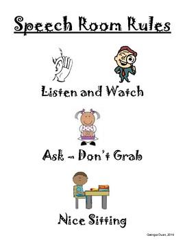 Speech Room Rules (English/Spanish)