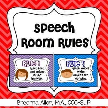 Speech Room Rules Freebie