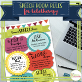 Speech Room Rules for the Virtual SLP - Teletherapy