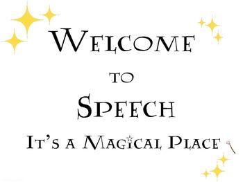 Speech Room Sign: FREEBIE