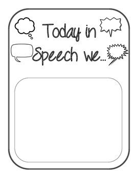 Speech Room Signs