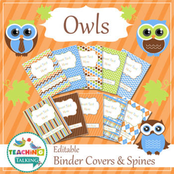 Speech Room Style - Editable Binder Covers / Spines (matches Owl Theme)