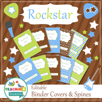 Speech Room Style - Editable Binder Covers / Spines (matches Rockstar Theme)
