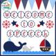 Speech Room Style - Editable Decor for SLPs (Nautical Theme)