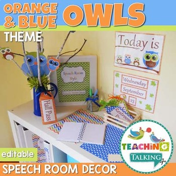 Speech Therapy Decor - Owl Theme Speech Room Decor