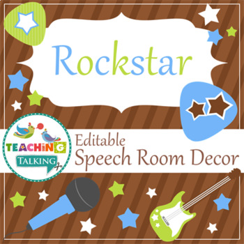 Speech Room Style - Editable Decor for SLPs (Rockstar Theme)