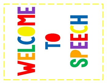 Speech Room Welcome Banner: Primary Colors