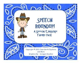 Speech Roundup - A Speech/Language Theme Pack