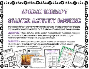 Speech Routines Bundle