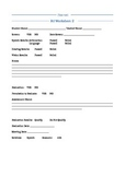 Speech RtI Worksheet