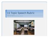 Speech Rubric- 11 topic Assessment