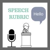 Speech Rubric