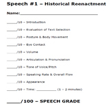 Speech Rubrics - Public Speaking, Informative, Persuasive, etc.