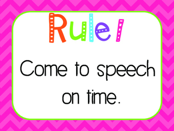 Speech Rules