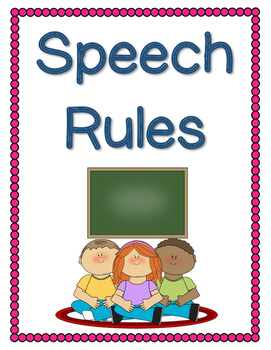 Speech Rules Posters
