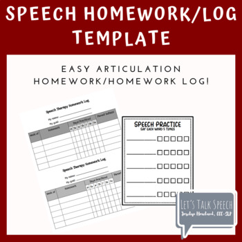 Speech Homework Template