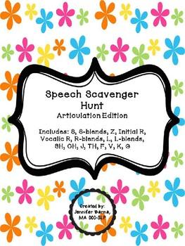 Speech Scavenger Hunt - Articulation Edition