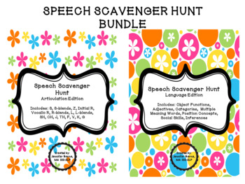 Speech Scavenger Hunt BUNDLE