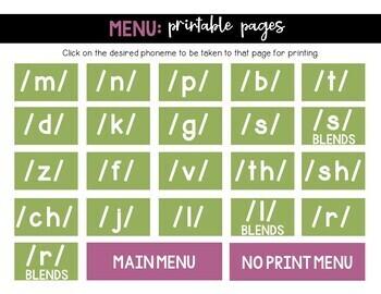 Speech Scenes for Articulation Practice: Print or No-Print