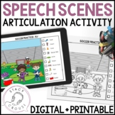 Speech Scenes for Articulation Practice: Print or No-Print