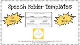 Speech Schedule and Goals for Student Folders Template