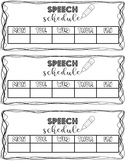 Speech Schedule for Students