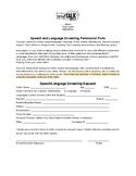 Speech Screening Permission Form