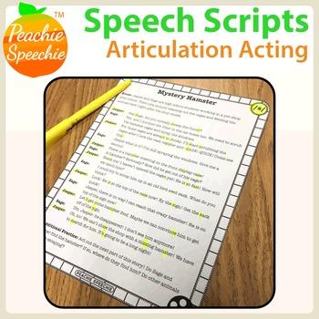 Speech Scripts: Articulation Acting {No Prep!}