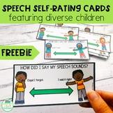 Speech Self-Rating Cards featuring diverse children