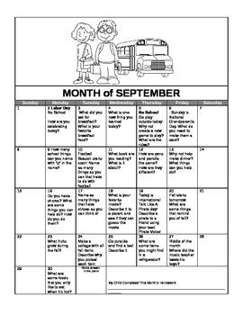 Speech Septemember 2013 HW Calendar