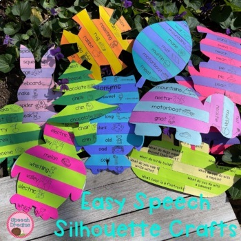 Speech Silhouette Crafts {seasonal and year round therapy