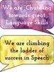 Speech Slides & Language Ladders Bulletin Board