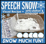 Speech Snow! Speech therapy Experiment visuals and worksheets