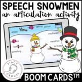 Speech Snowmen: An Articulation Activity BOOM CARDS™