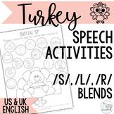 Speech Sound Activities for S Blends, L Blends and R Blend