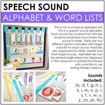Speech Sound Alphabet & Word Lists