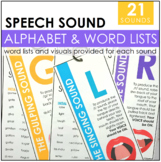 Speech Sound Alphabet & Word Lists