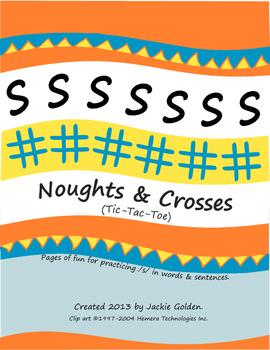 Speech Sound Artic Noughts & Crosses - S