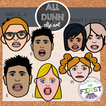 Speech sounds mouth and face clip art