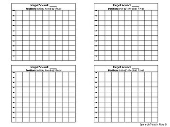 Speech Sound/Articulation Progress Graphs & Goal Steps