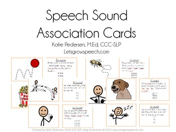 Speech Sound Association Cards