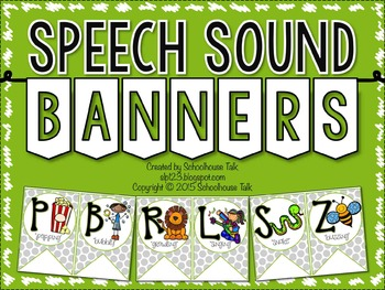 Speech Sound Banners {FREE}