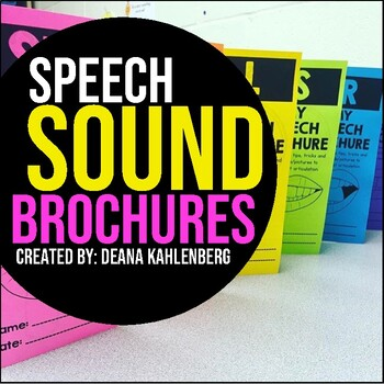 Speech Sound Brochures