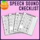 Speech Sound Checklist (No-Prep Articulation Screener)